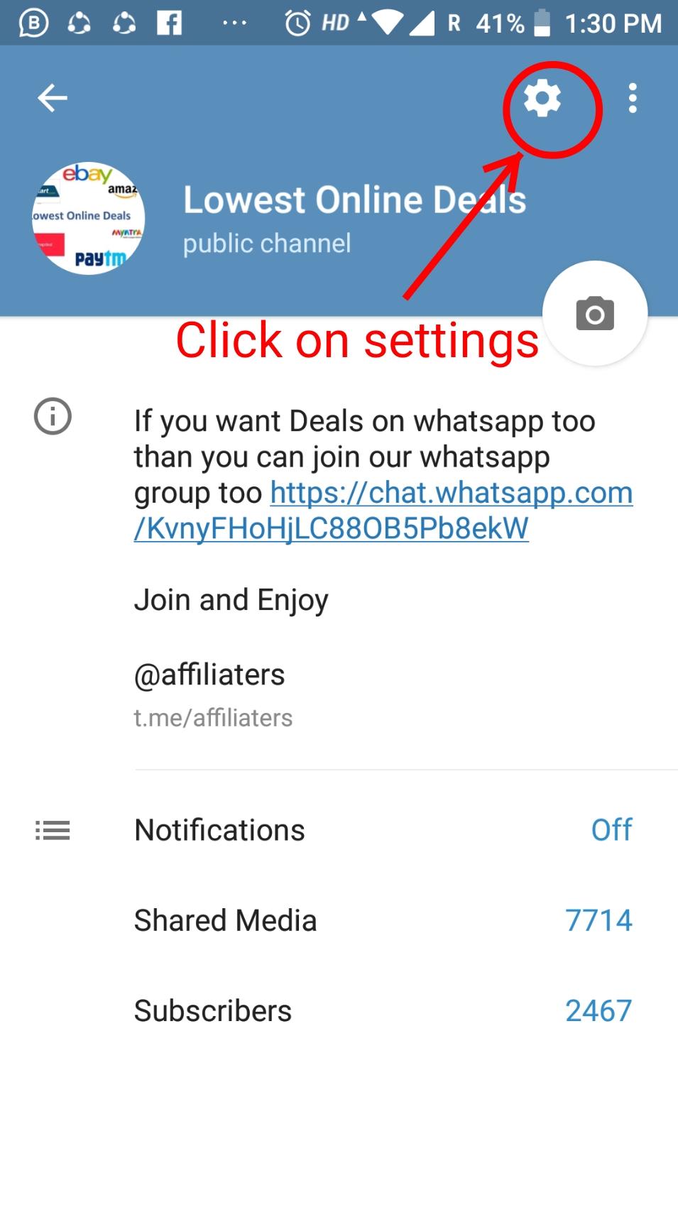 affiliaters telegram
