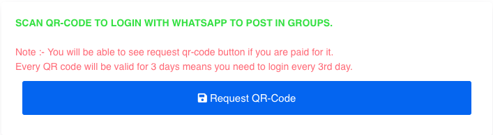 Affiliaters whatsapp request